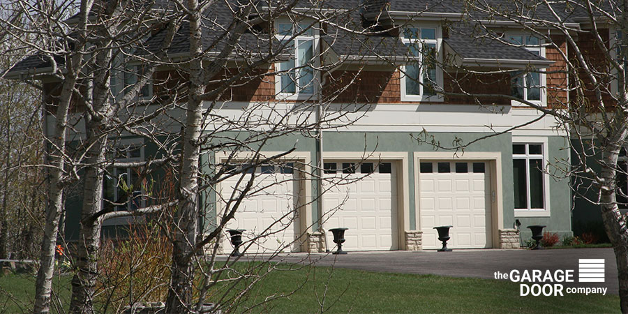 White Garage Door for Curb Appeal