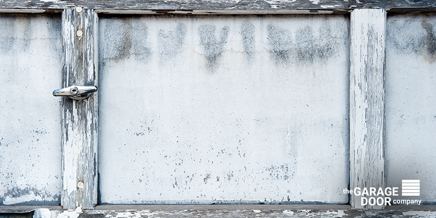 Old Rusted Garage Door