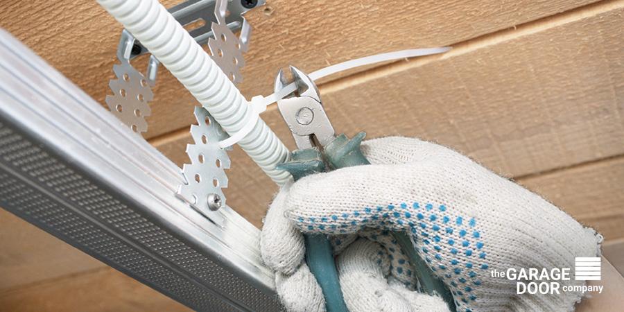 Garage Maintenance Cutting Extra Wire